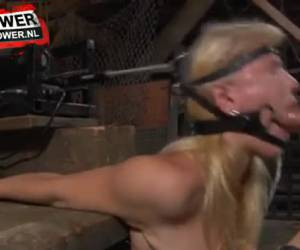 Bdsm deepthroat training machine
